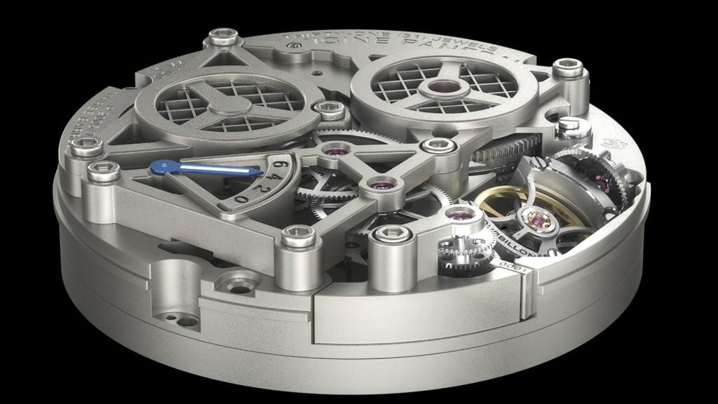 Lo Scienziato Luminor 1950 Tourbillon GMT Titanio