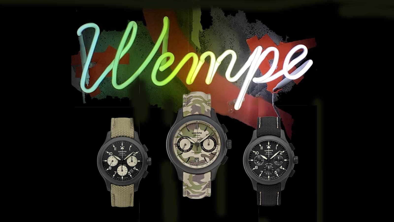 Drei neue Chronographen in Keramikgehäuse von WEMPE Glashütte