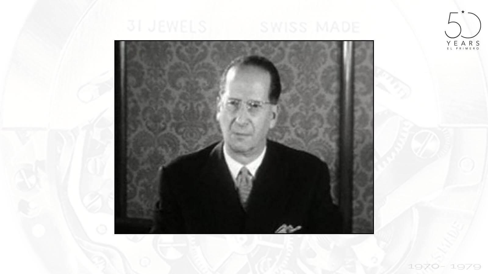 Gérard Bauer, damaliger Präsident des Verbands der Schweizerischen Uhrenindustrie