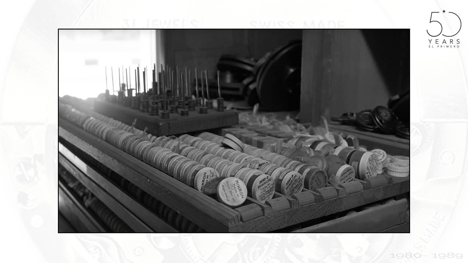 Ersatzteile und Werkzeuge zur Herstellung des El Primero von ZENITH