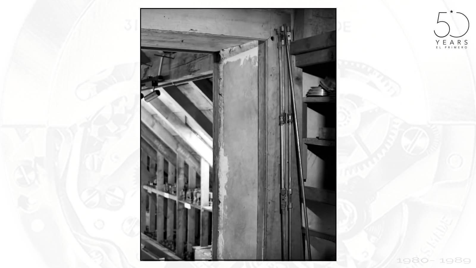 Die heilige Kammer in der die Teile und Werkzeuge für das El Primero von Charles Vermot versteckt wurden