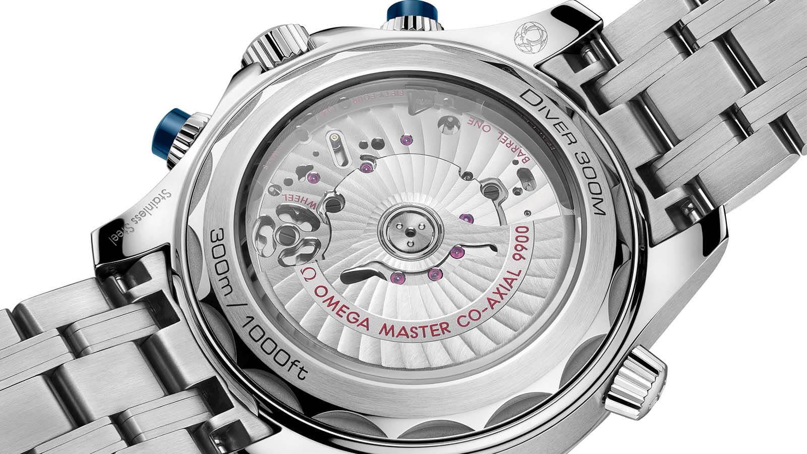 Kaliber 9900 in der neuen OMEGA Seamaster Diver 300M Chronograph