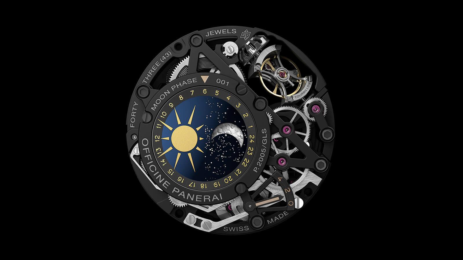 PANERAI L'Astronomo Luminor 1950 Tourbillon Moon Phases Equation of Time GMT