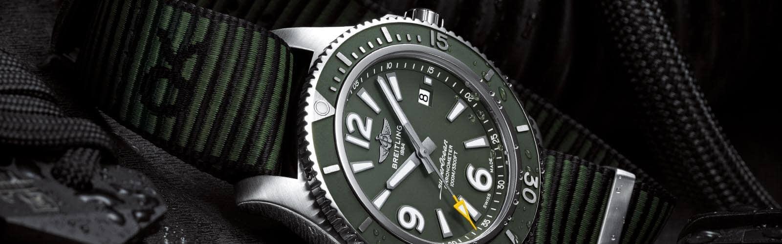 Neue Superocean Outerknown von Breitling mit grünem Zifferblatt