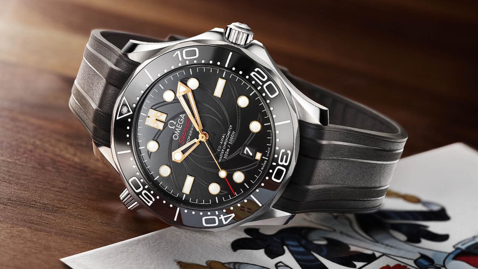 OMEGA Seamaster Diver 300 James Bond Limited Edition an schwarzem Kautschukband