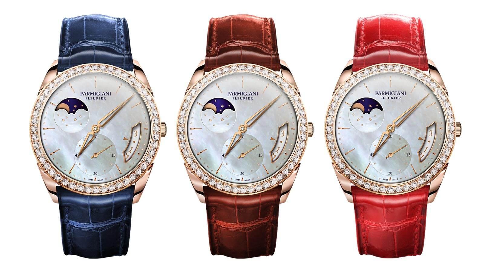 Parmigiani Fleurieur Tonda 1950 Lune Damen Uhr in drei unterschiedlichen Varianten