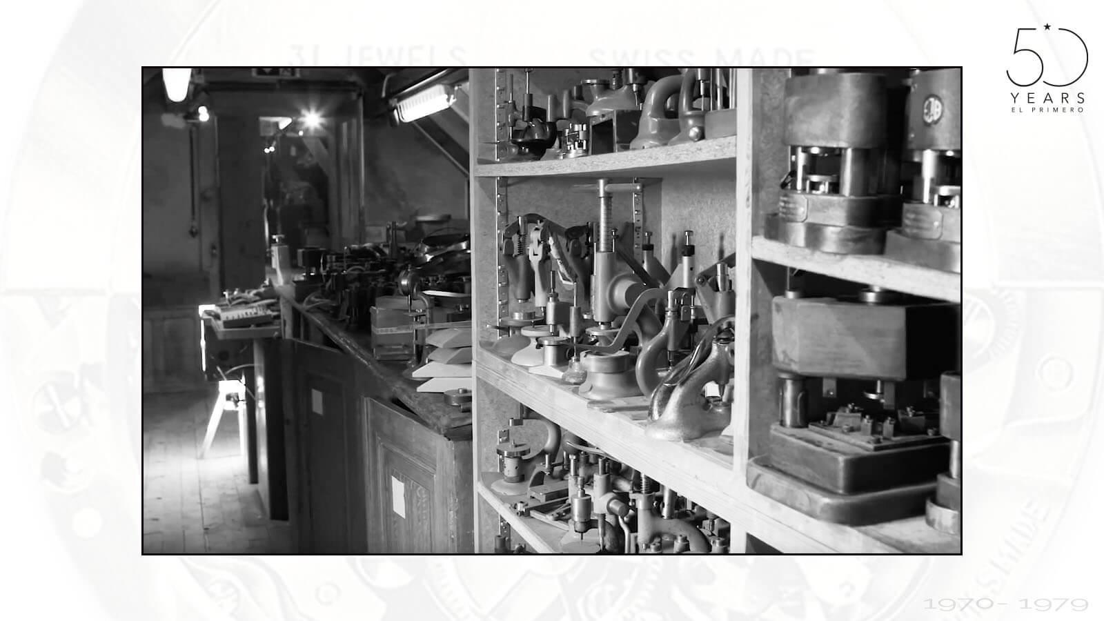 Werkzeuge und Teile zur Herstellung des El Primero