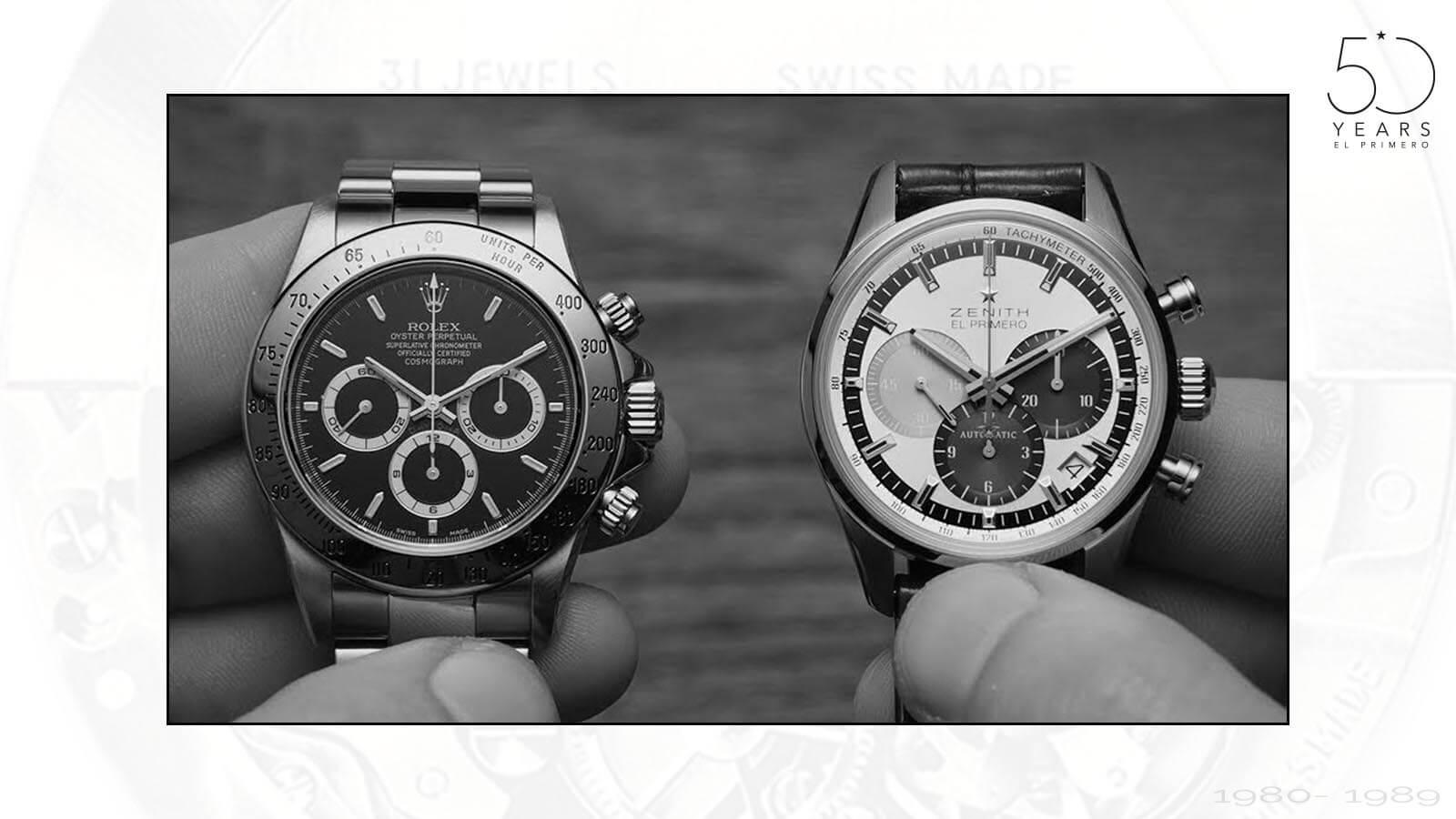 Vergleich Roley Daytona und Zenith El Primero Chronograph