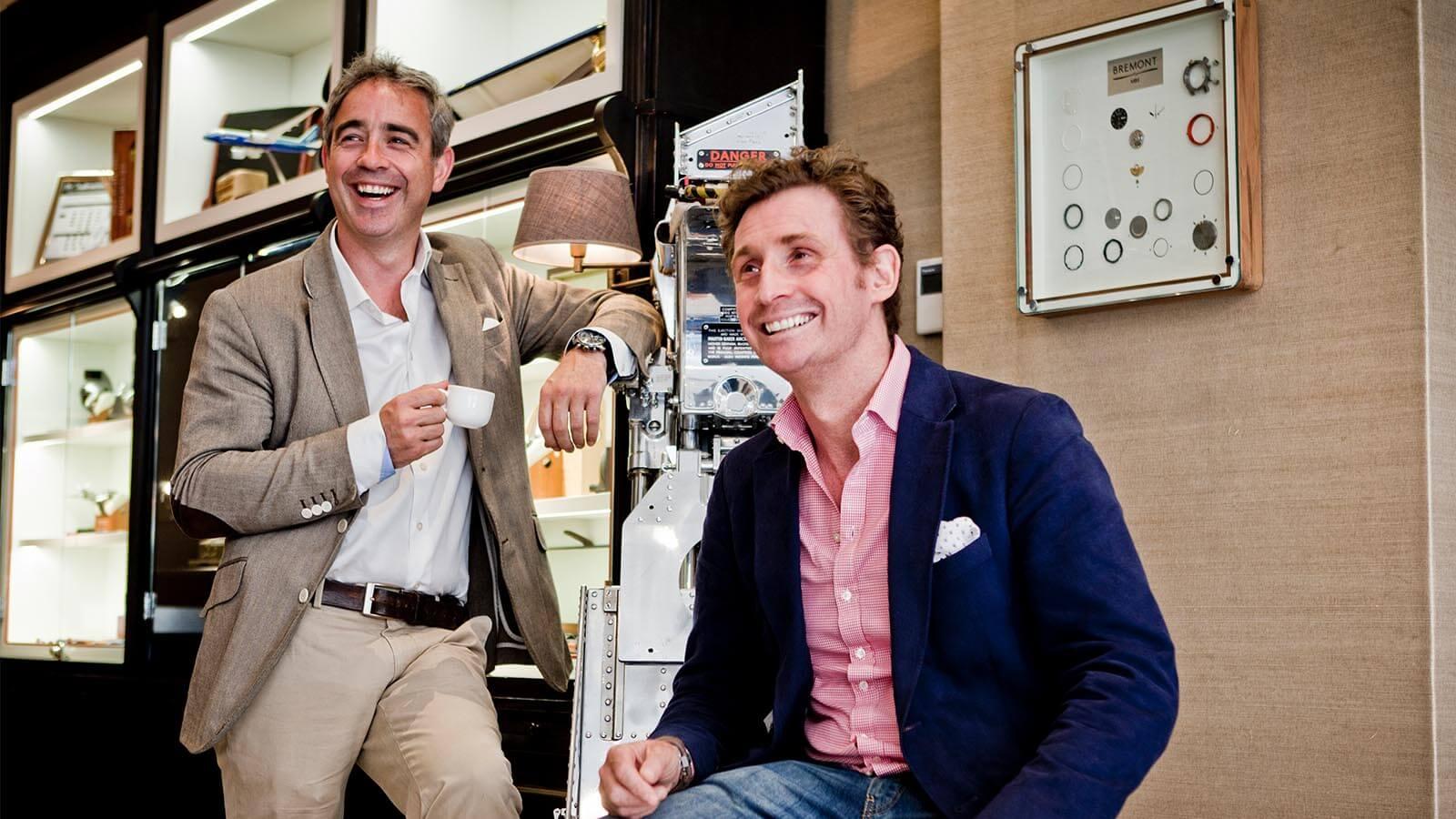 Gründer von Bremont links Giles English und rechts Nick