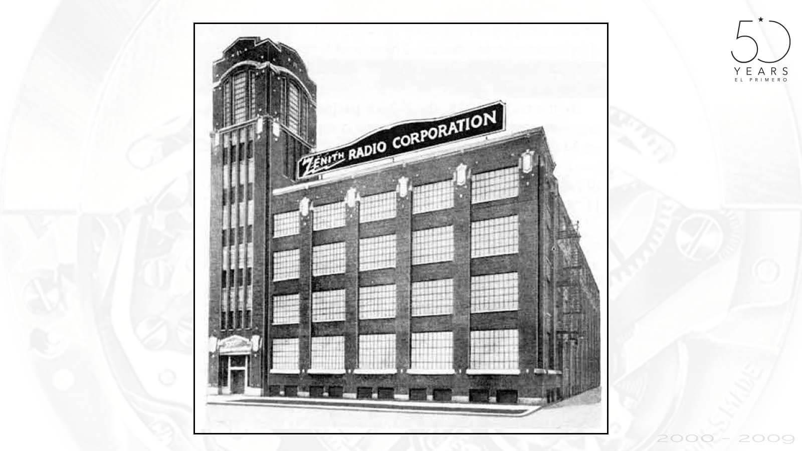 Firmengebäude der ZENITH Radio Corporation