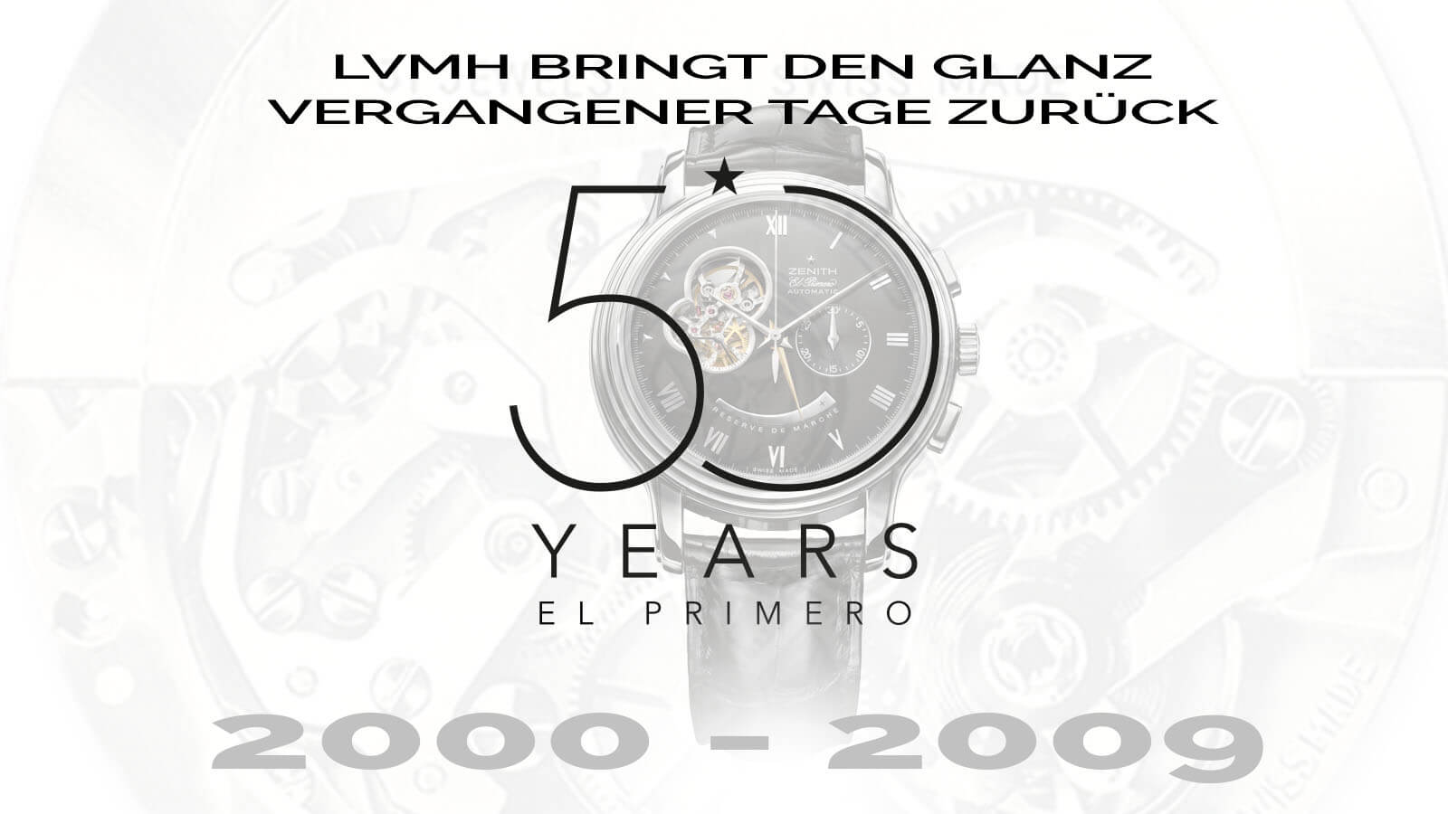 Startbild 50 Jahre ZENITH El Primero Teil 5