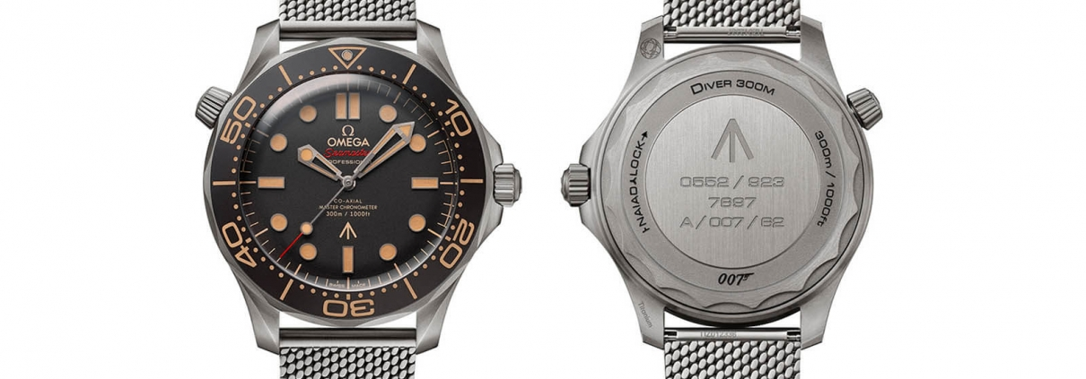Vorder- und Rückseite der OMEGA Seamaster Diver 300M 007 Edition
