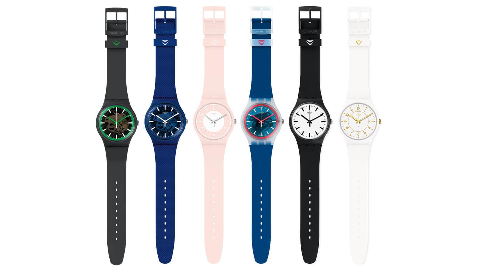 6 Modelle der neuen SwatchPAY! Kollektion