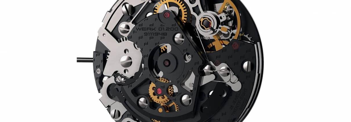 Kaliber 01.200 von Porsche Design mit Flyback-Funktion