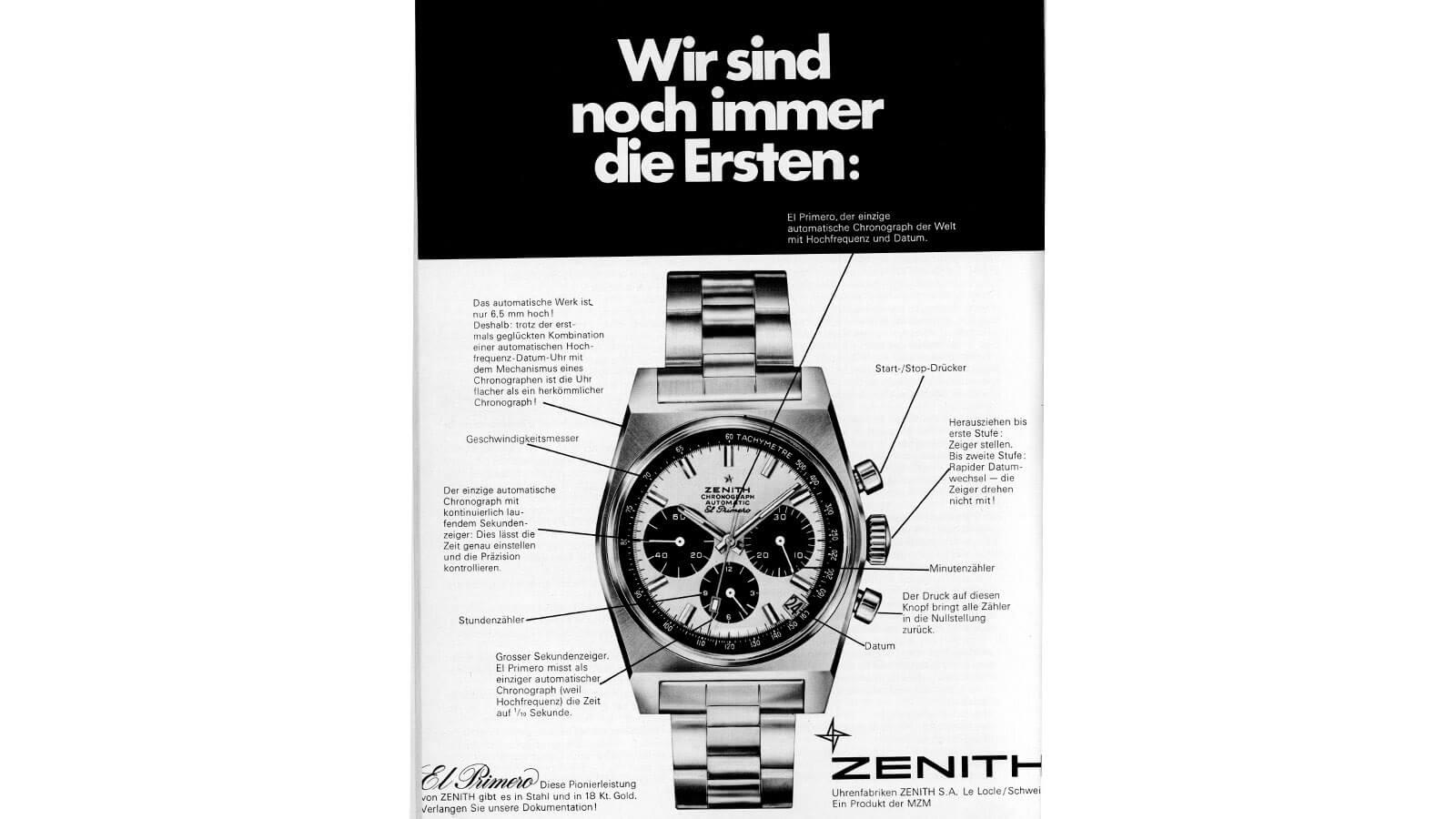 Werbeanzeige für die A384 von ZENITH von 1969