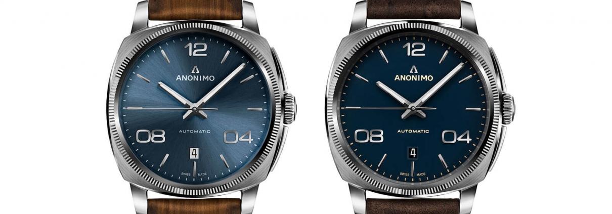 Epurato Modelle von ANONIMO mit blauem Zifferblatt