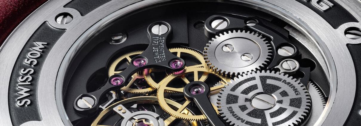 Aufwendig dekoriertes Uhrwerk von Schwarz-Etienne für MING (Basis ETA Peseux 7001)