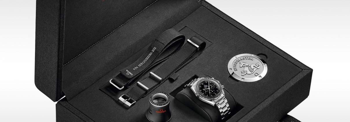Präsentationsbox der OMEGA Speedmaster Moonwatch Professional