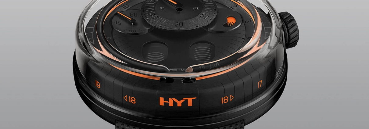 H0 von HYT Anzeige der Zeit mittles Fluid-Modul Ansicht von vorne