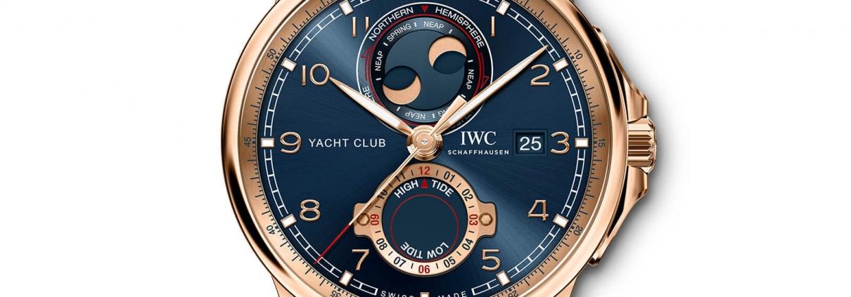 IWC SCHAFFHAUSEN Portugieser Yacht Club Moon & Tide 2020 Detailansicht