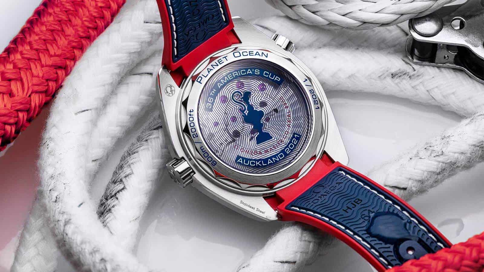 OMEGA Seamaster Planet Ocean 36th-America´s-Cup Limited Edition Gehäuserückseite