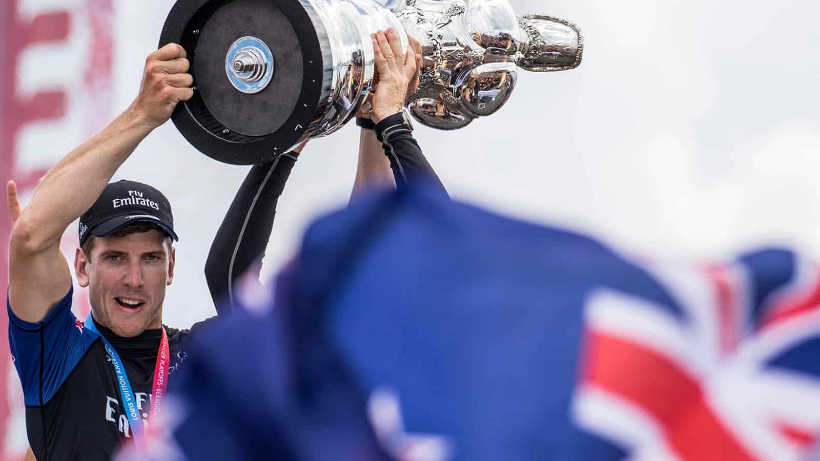 Moment des Triumphs vor Bermuda, als die Kiwis 2018 den 35. America´s Cup gewannen