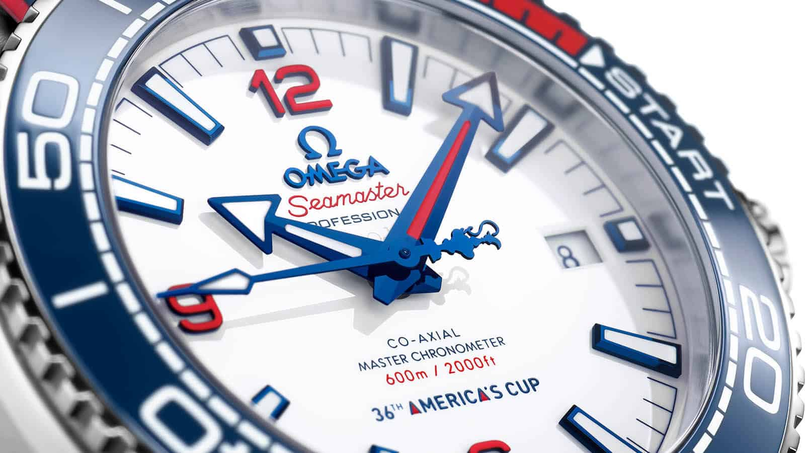 OMEGA Seamaster Planet Ocean 36th-America´s-Cup Limited Edition Detail Zifferblatt