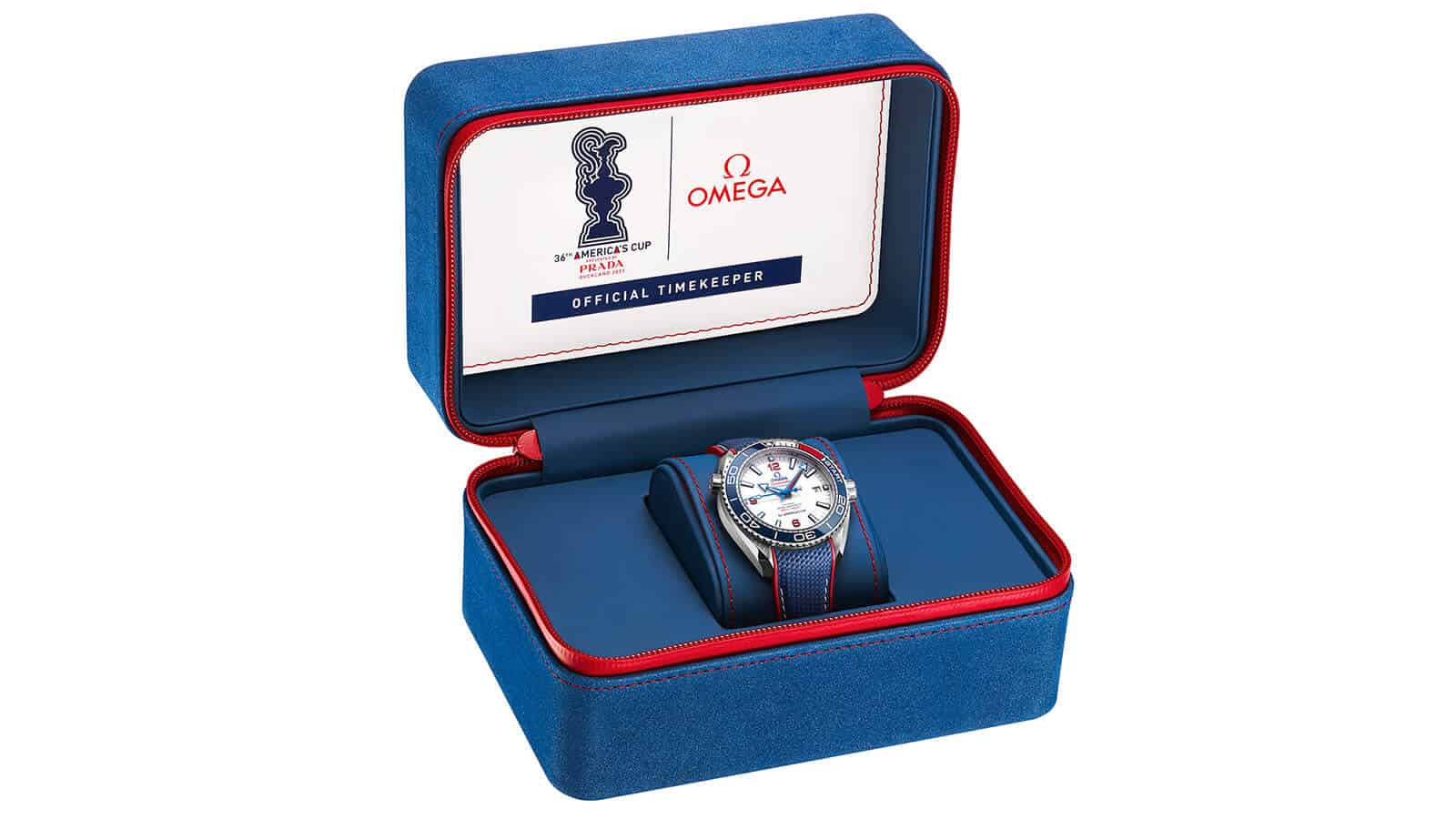 OMEGA Seamaster Planet Ocean 36th-America´s-Cup Limited Edition in Präsentationsbox