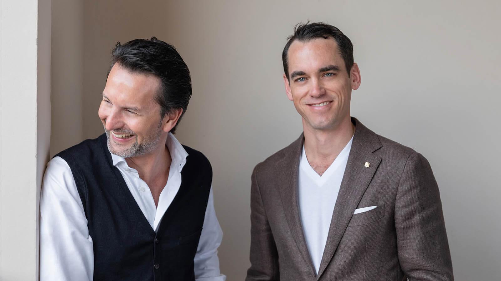 Links Max Büsser von MB&F und rechts Edouard Meylan von H. Moser