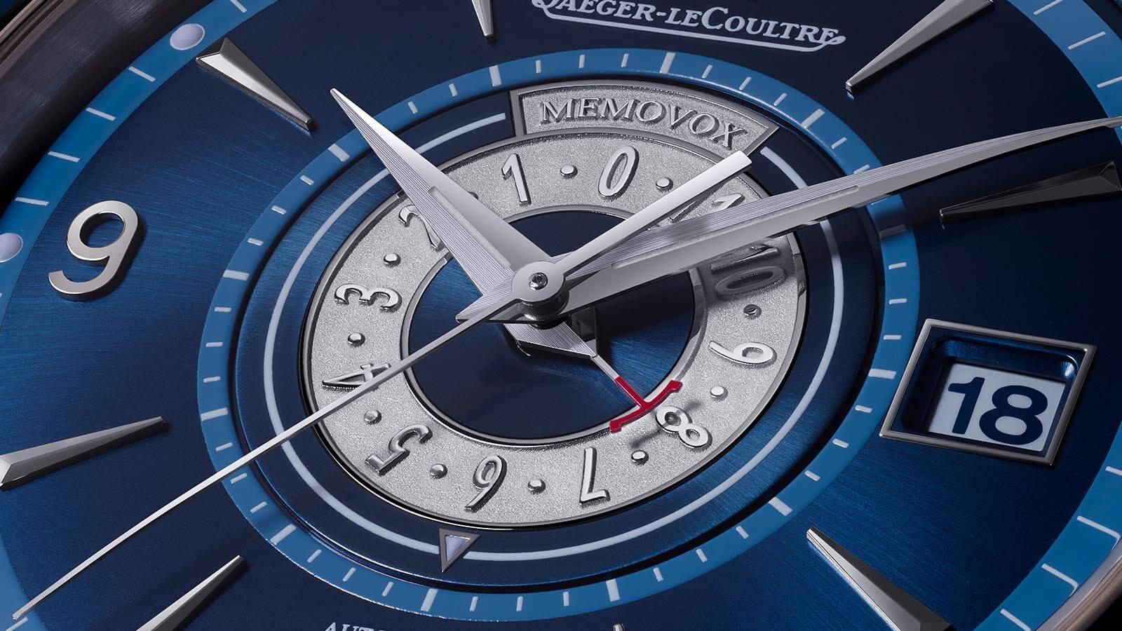 JAEGER LECOULTRE Master Control Memovox - The Sound Maker - Detail Zifferblatt der Uhr mit mechanischer Weckfunktion