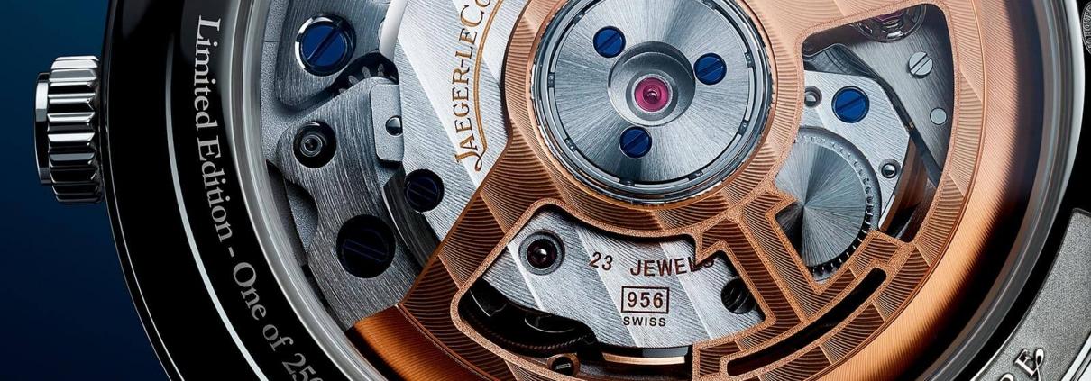 AEGER LECOULTRE Master Control Memovox - The Sound Maker - Detail Gehäuseboden der Uhr mit mechanischer Weckfunktion