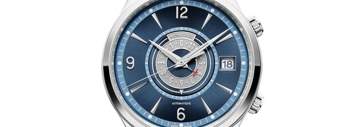AEGER LECOULTRE Master Control Memovox - The Sound Maker - Detail Zifferblatt der Uhr mit mechanischer Weckfunktion