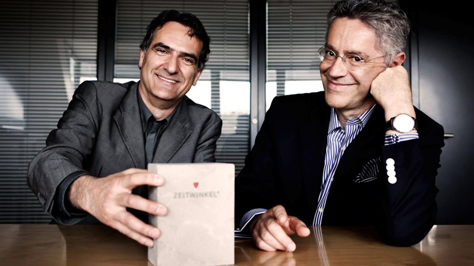 Zwei der Gründer von ZEITWINKEL.CH, links Peter Nikolaus und rechts Ivica