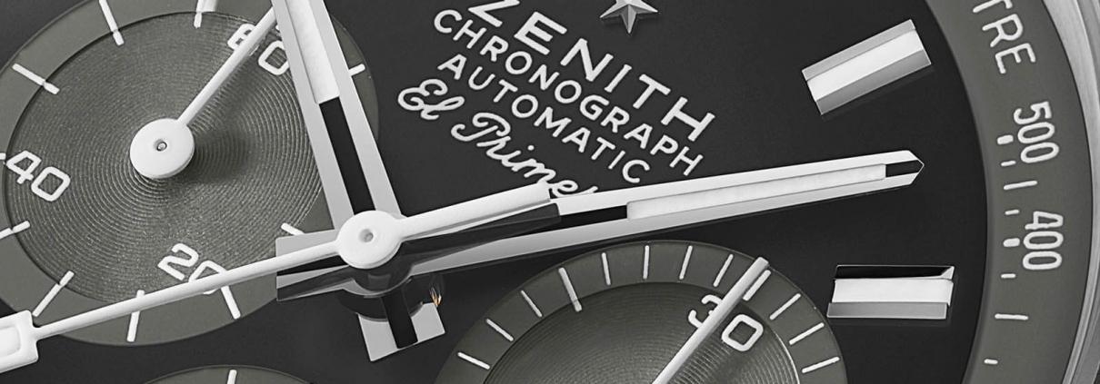 """Zifferblatt Detail der ZENITH Chronomaster Revival """"Shadow"""""""