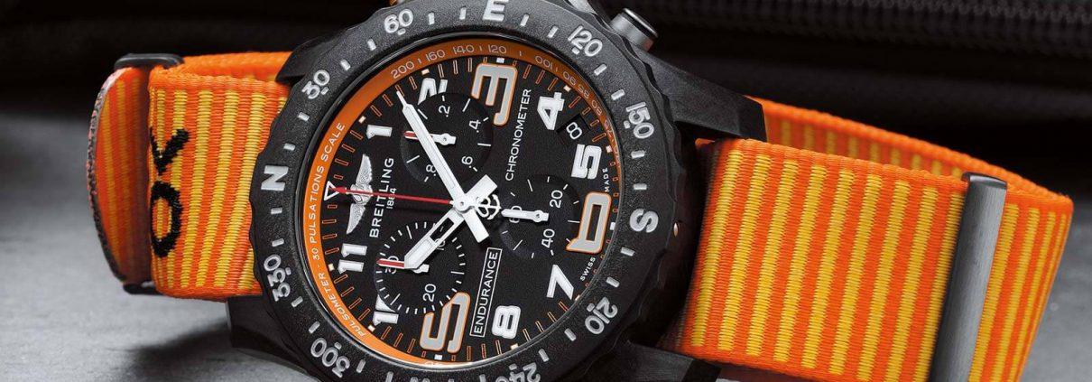 Endurance Pro von Breitling mit Textilband in Orange