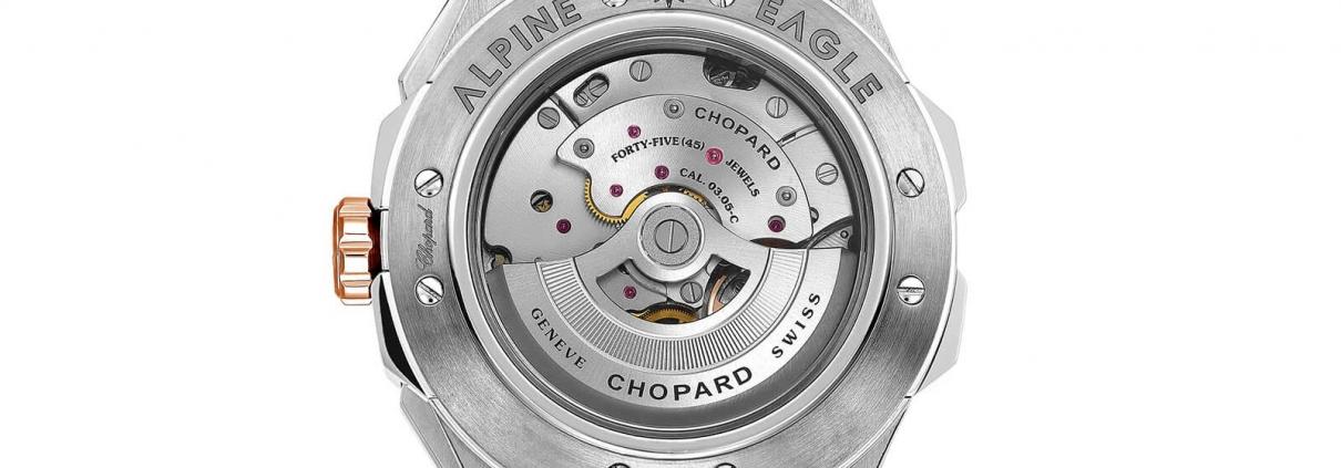 Gehäuserückseite des Alpine Eagle XL Chrono von Chopard