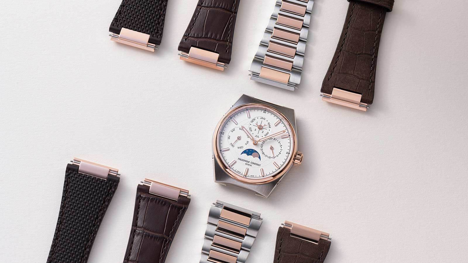 FREDERIQUE CONSTANT Highlife Perpetual Calendar Manufacture mit Band-Schnellwechselsystem